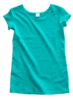 Aqua Blue Cotton Cap Sleeve