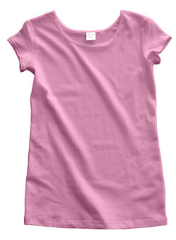 Baby Pink Polyester Cap Sleeve