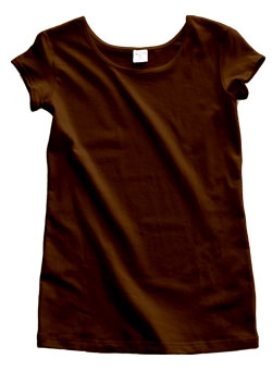 Chocolate Brown Cotton Cap Sleeve