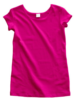 Fuchsia Cotton Cap Sleeve