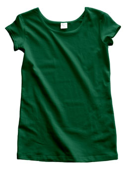 Kelly Green Cotton Cap Sleeve