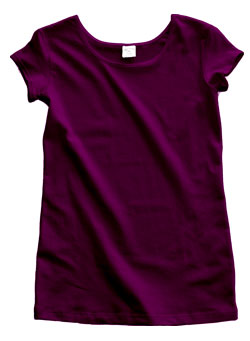 Plum Purple Cotton Cap Sleeve