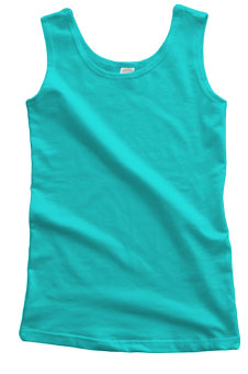 Aqua Blue Cotton Tank