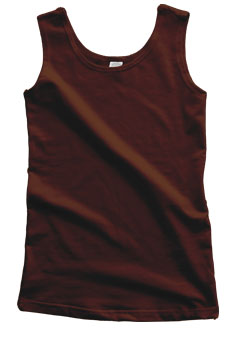 Chocolate Brown Cotton Tank
