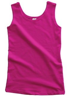 Fuschia Cotton Tank