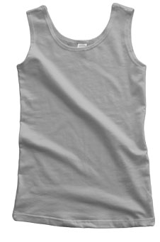 Heather Grey Cotton Spandex Extra Long Tank
