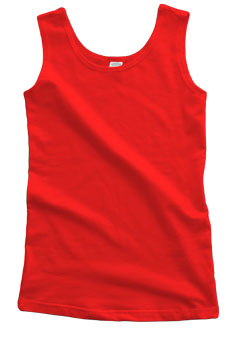 Red Cotton Tank