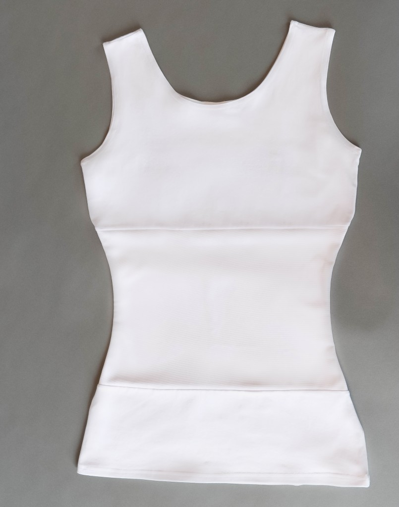 White Tummy Tuck Tank